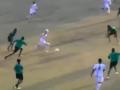 Футболист забил невероятный гол,  находясь возле углового флажка