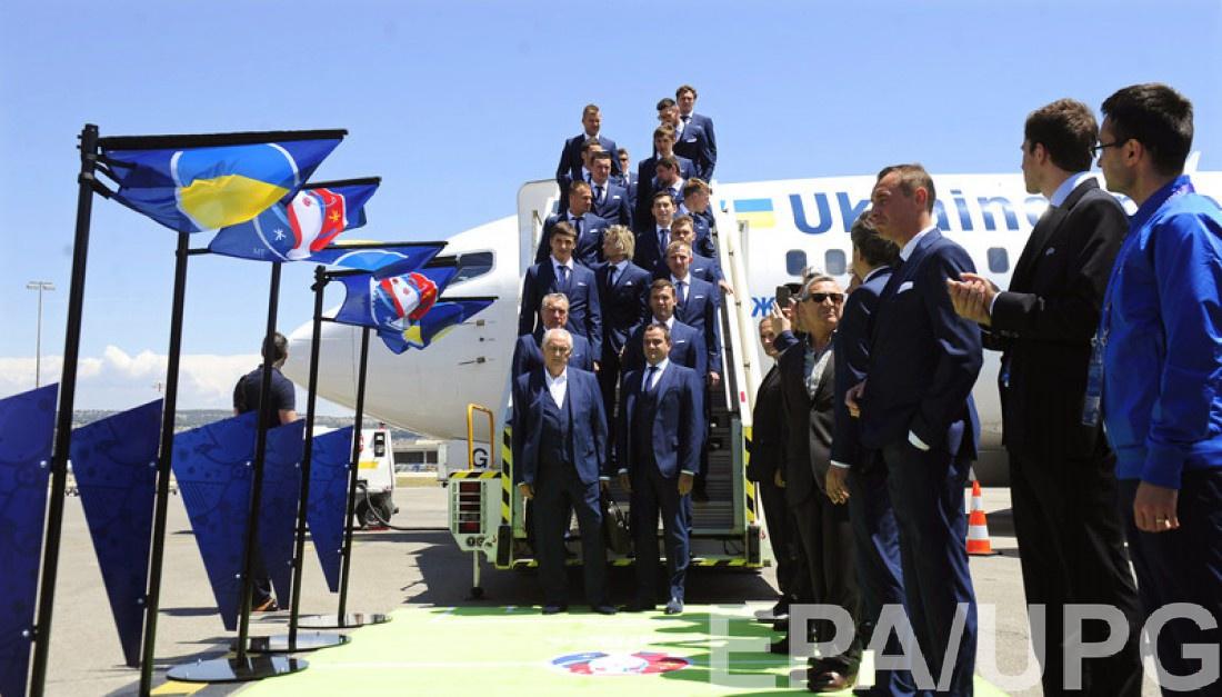 Сборная Украины вступила на французскую землю