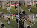 Футболист Лацио разделся до трусов прямо на поле