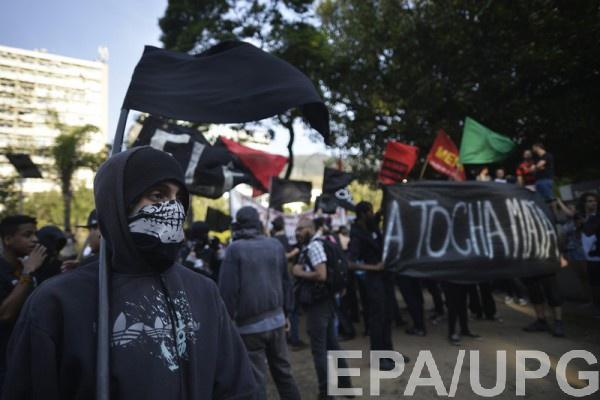 В Бразилии протестовали против Олимпиады