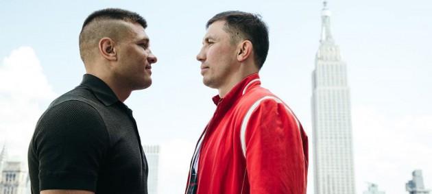 Деревянченко - Головкин: боксеры провели первую битву взглядов