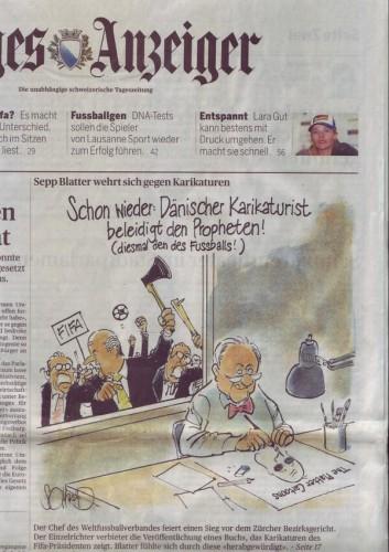 Комикс про Йозефа Блаттер
