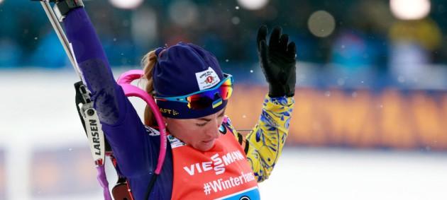 Биатлон: Семеренко и Пидгрушная попали в топ-15 гонки преследования