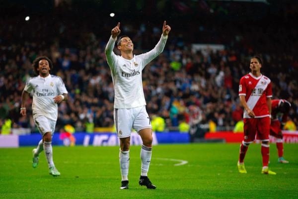 Криштиано Роналду забил в матче с Райо Вальекано один гол и сделал две результативные передачи