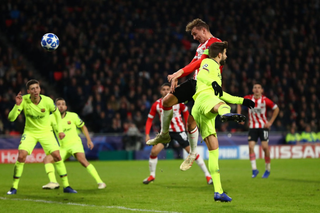 ПСВ дома проиграл Барселоне: видео обзор матча