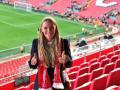 Возняцки посетила матч Ливерпуля в чемпионате Англии