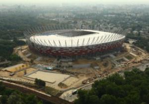 В Варшаве достраивают Национальный стадион (видео, фотогалереи)
