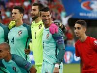 Фанат Криштиану Роналду принял участие в командной фотосессии перед матчем с Уэльсом