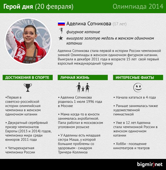 Героиня четырнадцатого дня Олимпиады в Сочи