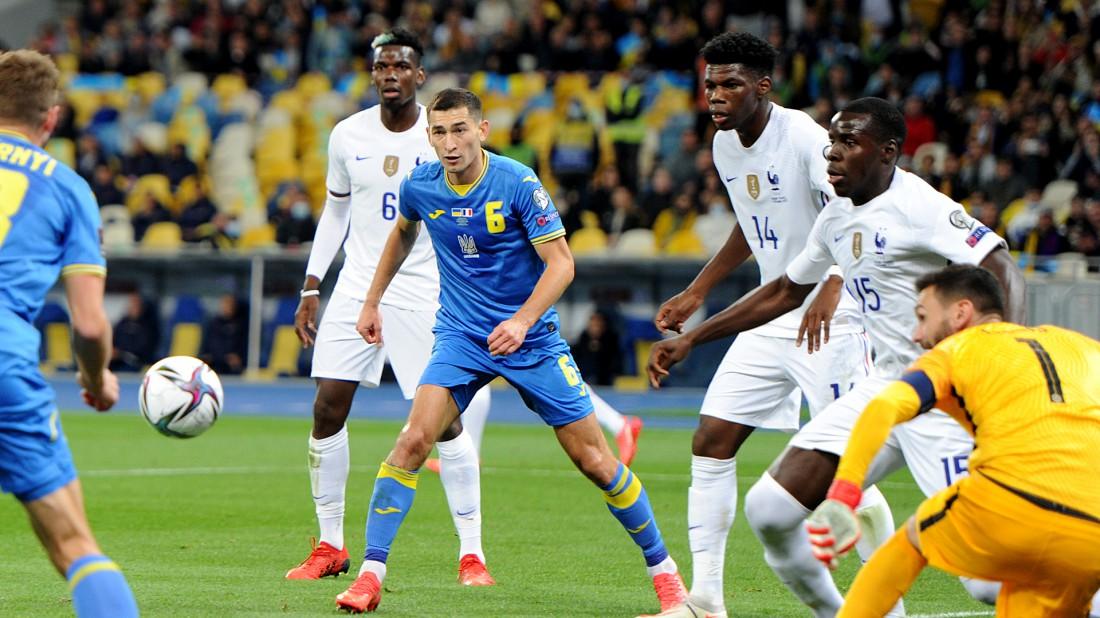 Украина и Франция сыграли вничью