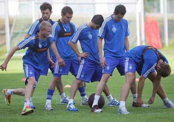 Динамо вышло на тренировку