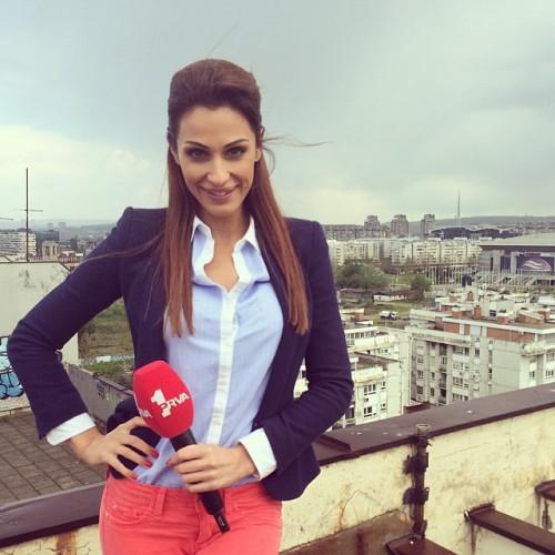 Катарина Сречкович - ведущая клубного канала Црвены Звезды