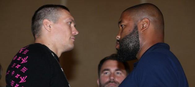 Усик - Уизерспун: Боксеры провели первую битву взглядов