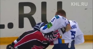 КХЛ как NHL. Драка на льду в матче Авангард - Барыс