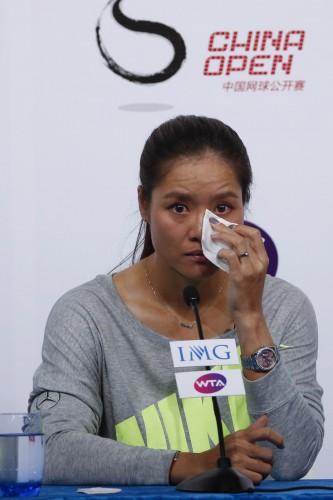 Ли На прощалась с теннисом со слезами на глазах