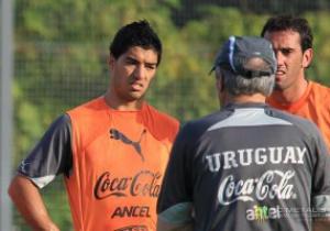 Фотогалерея: Суарес и другие. Тренировка сборной Уругвая на базе Металлиста