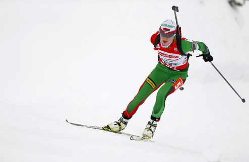 Дарья Домрачева выиграла гонку преследования в Оберхофе