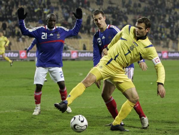 В 2007-м Украина сыграла вничью с Францией (2:2)