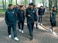 Игроки Шахтера прогулялись по львовскому парку перед матчем с Брагой