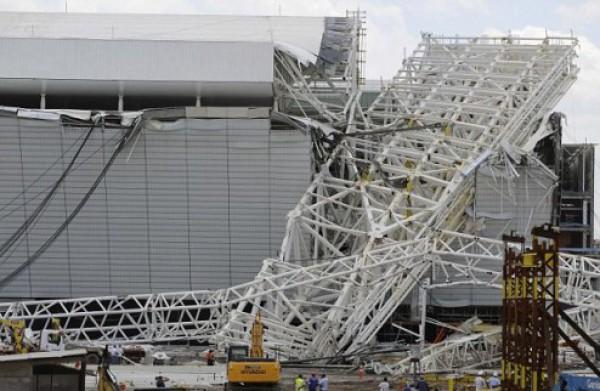 На стадионе для ЧМ-2014 случилась трагедия