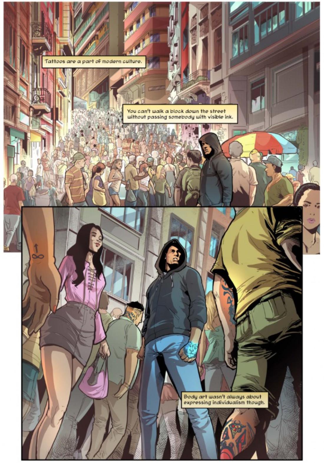 Страница из комикса Неймара