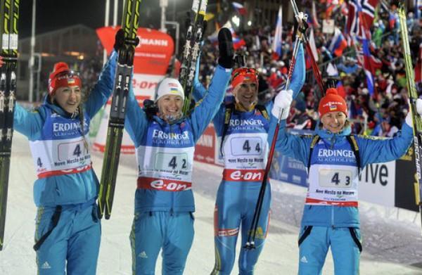 Украинская эстафетная команда стала второй в Анси