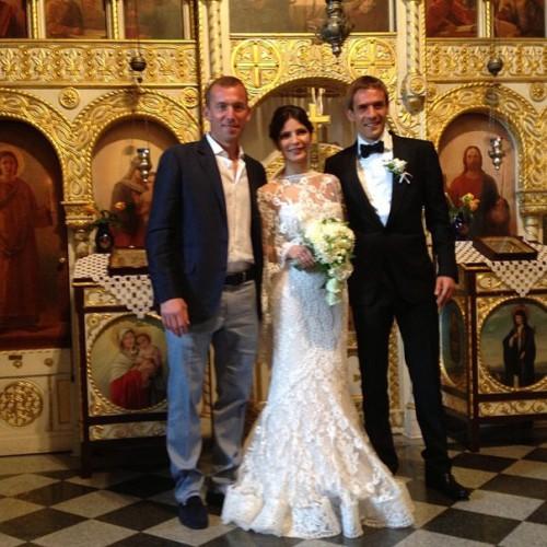 Вратарь Металлиста Александр Горяинов, Марко Девич и его супруга