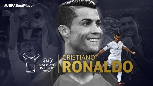Криштиану Роналду – лучший игрок Европы