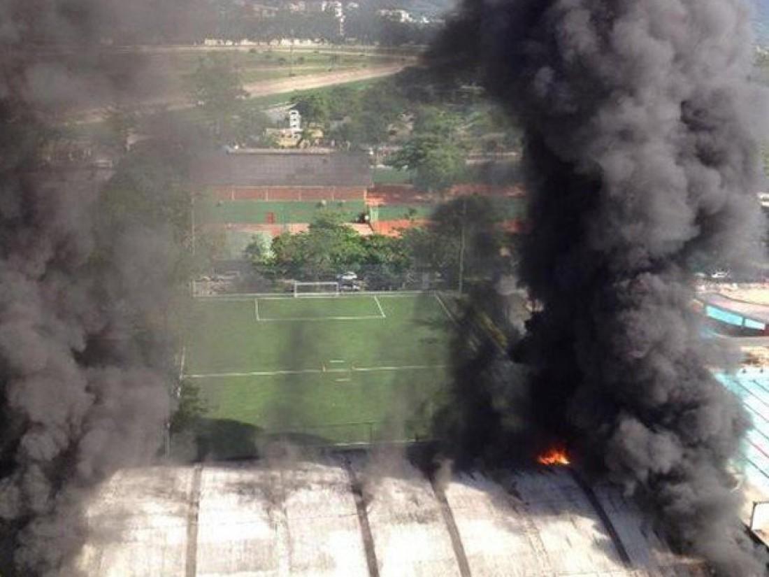 На тренировочной базе Фламенго случился сильный пожар