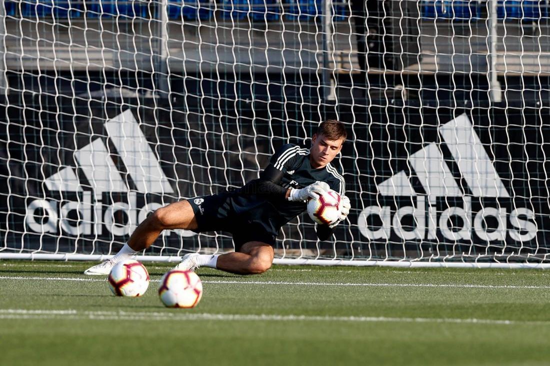 Андрей Лунин провел первую тренировку в Реале