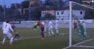 Потрясающий гол 16-летнего итальянского парнишки, который он забил пятой точкой