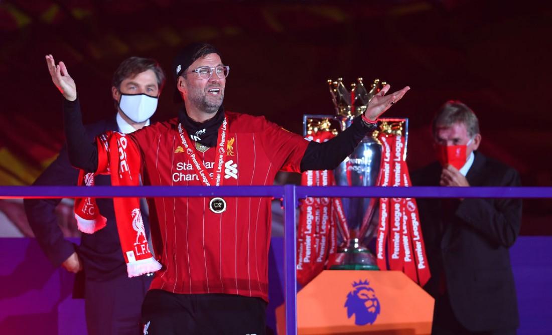 Юрген Клопп на церемонии награждения