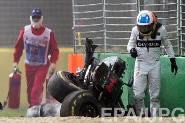 Алонсо не пострадал в аварии