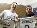 Ибрагимович и Роналдо обменялись футболками