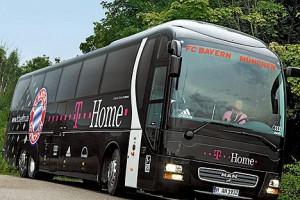 Бавария будет передвигатся по Минску на своем автобусе