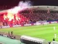 Марибор – Спартак: файер с сектора российского клуба едва не попал в арбитра матча