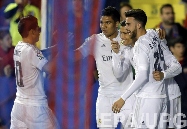 Реал празднует победу над Леванте
