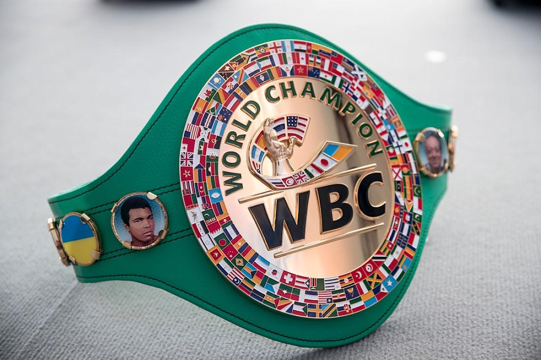 Флаг Украины появился на чемпионском поясе WBC