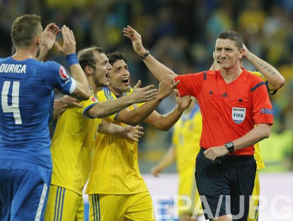 Томсон уже работал на НСК Олимпийский, обслуживая матч Украина – Словакия