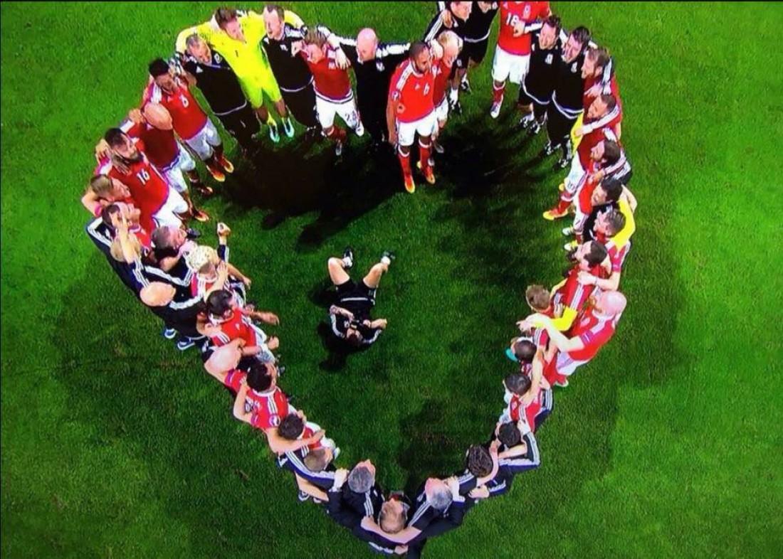 Уэльс показал большое сердце после победы над Бельгией на Евро-2016