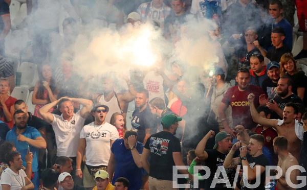 Российские фанаты на матче Евро-2016