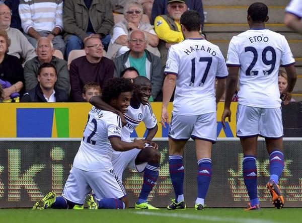 Виллиан забил гол за Челси