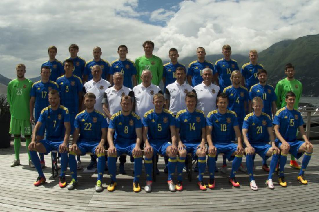 Официальный фотосессия сборной Украины