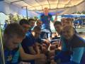 Сборная Украины отправилась на первую тренировку на туристических вагончиках