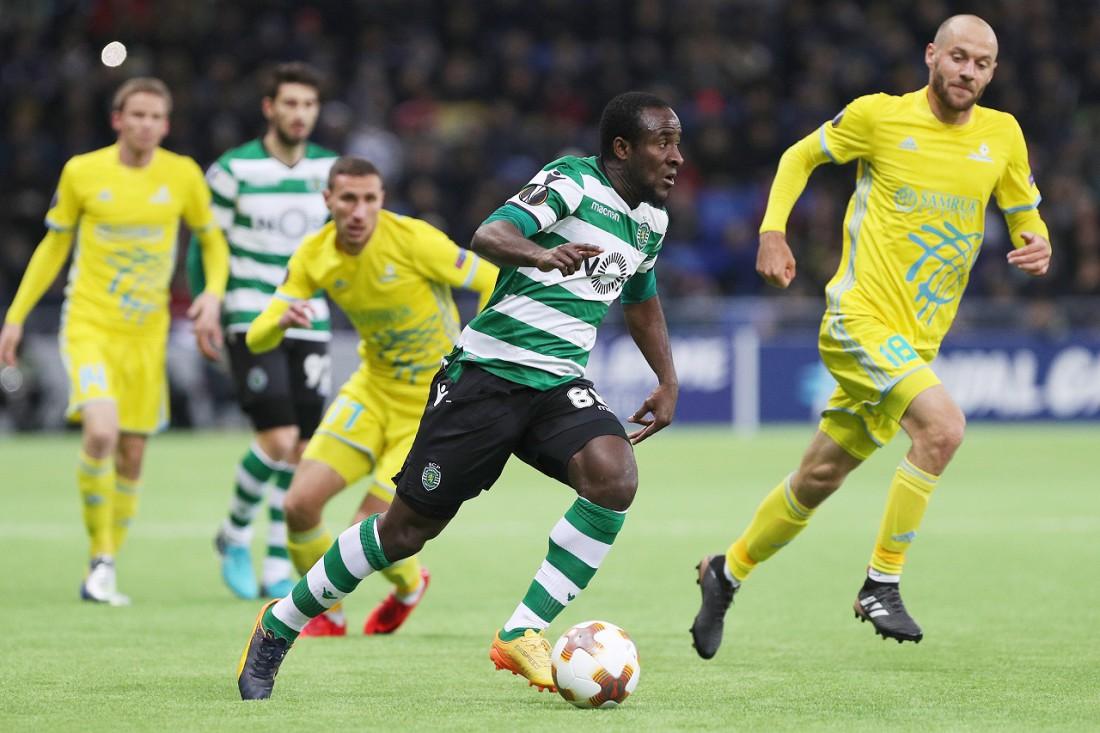 Спортинг легко разобрался с Астаной в матче Лиги Европы