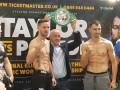 Тейлор – Постол: боксеры показали одинаковый вес на взвешивание
