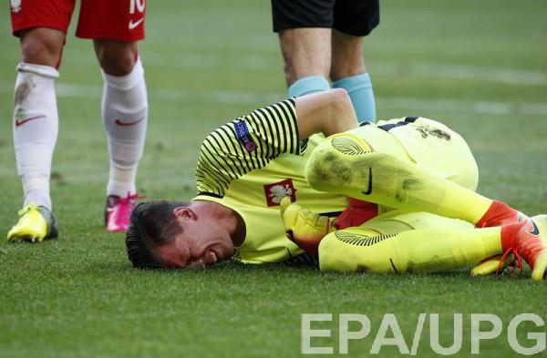 Войцех Щесны получил травму в матче против Северной Ирландии