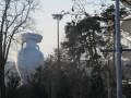 В Ньоне в небо запустили надувную копию Кубка Европы