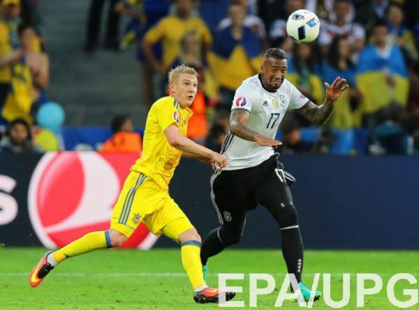Виктор Коваленко в матче с Германией