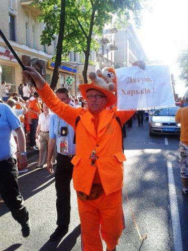 Голландские болельщики разрушают стереотипы